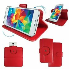 Mobile Phone Cover Book Case For Kivors 6 Inch Android 5.1 - Red XL