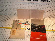 BMW 1979 E21 320i owner's manual OEM 1 set of 7 Booklet/ Paper & Clear 1 Pouch