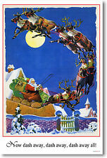 Santa - Now Dash Away - Poster