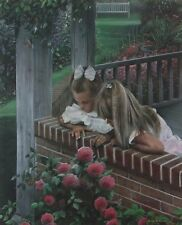 Forever Friends Girl Flower Garden Print  By Kevin Daniel Signed and Numbered
