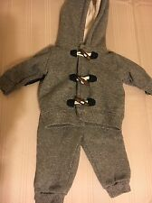 CARTER'S 2 Piece Baby Boys Hooded Jacket Long Pants Outfit Size 3 Months Gray