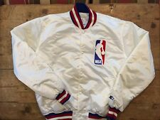 Vintage 80s NBA Satin STARTER JACKET XL Authentics RARE New Haven Label Grail