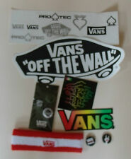 VANS Off The mur bandeau & autocollants & broches badges skateboard lot sweat band new
