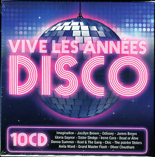 VIVE LES ANNEES DISCO - 10 CD 150 TITRES DISCO FUNK - NEW SEALED NEUF SOUS CELLO