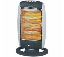 1200w Oscillating 3 Bar Halogen Heater For Home or Office 400w/800w/1200w