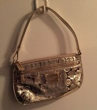 Michael  Kors Mirror Metallic Small Gold Wristlet Purse, Free Shipping