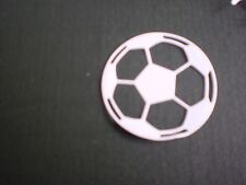 5 Football white card cut outs from metal die