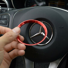 1 Pc Red Aluminium Steering Wheel Badge Trim Fits for Mercedes Benz A B E Class