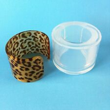 CLEAR SILICONE MOLD, (MB064) WIDE OPEN CUFF BANGLE BRACELET
