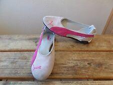 PUMA Espera Ballerina Flats Women's Pink Suede Athletic Shoes Size 9