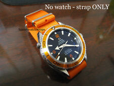 ORANGE  BALLISTIC NYLON NATO ® STRAP FOR OMEGA PLANET OCEAN WATCH 20mm