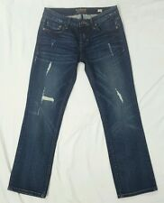 Cult of Individuality Womens Rogan Capris Cropped Dark Wash Skinny Jeans 26