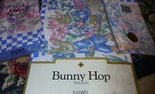 NEW 52x70 in Easter Bunny Hop fabric tablecloth and 2 sets of NIP napkins spring