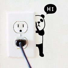 Interesting Panda Switch Sticker Wall Quote Wall Stickers Vinyl Decor Decal CAHF