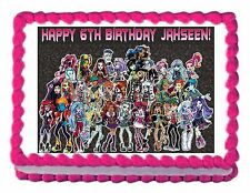 MONSTER HIGH edible party cake decoration cake topper cake image frosting sheet