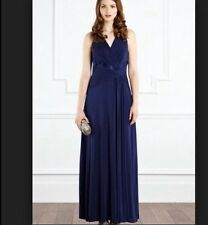 "BNWT "" Coast "" Size 16 Frankie Maxi Dress Prom Weddings Bridesmaids Cruise Navy"