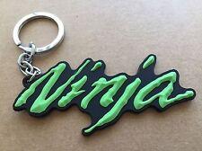 motorcycle keychain Rubber Kawasaki Ninja Logo Green & Black