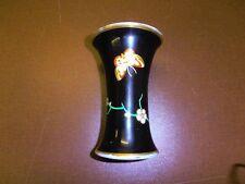 Thomas Bavaria rare vaso circa 1926 in nero M. Farfalla e Fiori Cirro