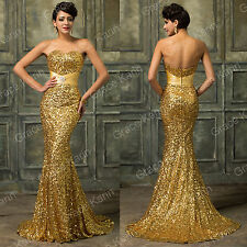 GK Sequins Women's Wedding Ball Gowns Formal Evening Prom Party Elegant Dresses