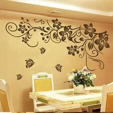 Large Butterfly Vine Flower Mural Art Wall Stickers Vinyl Decal Home Room Decor