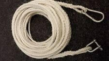 40FT OF NEW 8MM ROPE ANCHOR BOAT MOORING WITH SNAP HOOK & SHACKLE
