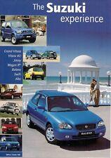 SUZUKI 1998-99 mercato britannico opuscolo Alto Wagon R Swift BALI JIMNY VITARA GRAND