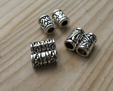 Set of 6 tube dread dreadlock hair braid Tibetan silver dreadlock beads 4mm hole