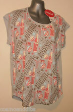 BNWT UNIQLO COCA COLA LIGHT GREY SHORT SLEEVE T-SHIRT SIZE M