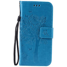 Card Holder Leather Flip Wallet Case Cover Stand Floral For Samsung Galaxy S7 J3