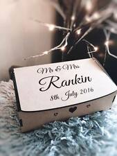 Mr & Mrs Personalised Wooden Engraved Keepsake Memory Chest Storage Box Gift