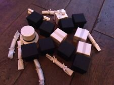 20 Silver Black White Wedding Favours Top Hat Mini Crackers Gift Box Parcel