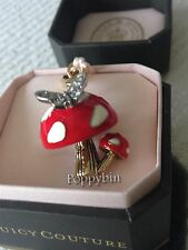 BRAND NEW JUICY COUTURE RED MUSHROOM W/ BUTTERFLY BRACELET CHARM IN TAGGED BOX