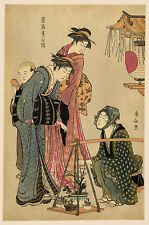 Japanese Art Print:  The Plant Seller, Torii Kiyonaga- Fine Art Reproduction
