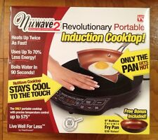 "NEW NuWave 2 Precision Portable Induction Cooktop w/ 9"" Ceramic Pan"