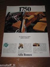 AB3=1968=ALFA ROMEO 1750 BERLINA=PUBBLICITA'=ADVERTISING=WERBUNG=