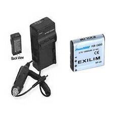 Battery + Charger for Casio EX-Z1050BE EXZ300 EX-FC100 EX-Z400 EX-Z100 EX-Z200