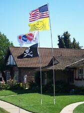 22' Heavy Duty Fiberglass Telescoping Flag Pole w/ Flag