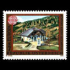 "Austria 1990 - EUROPA Stamp ""Post Office"" Architecture - Sc 1503 MNH"