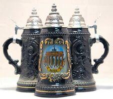 Berlin Brandenburg Gate Black German Beer Stein .25L Made in Germany One Mug New