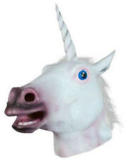 New Unicorn Horse Head Mask Creepy Halloween Costume Theater Latex Prop Novelty