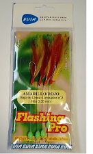 Flashing Pro 4 Hook Rig - Red / Yellow - EVIA