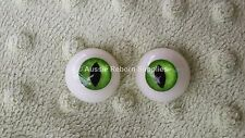Acrylic Cat Eyes GREEN 22mm for Reborn Horror Unusual Doll Baby Making