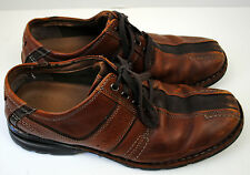 Clarks Mens Touareg Oxfords 12 M Brown Leather Lace Up Comfort 70852 Casual