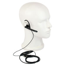2Pin Ear Bar Earpiece Mic PTT Headset for Kenwood BAOFENG WOUXUN Retevis Radio A
