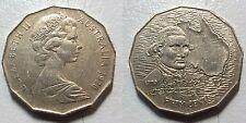 1970 AUSTRALIA 50¢ COIN - Captain Cook 50 Cents - Bicentennial 1770