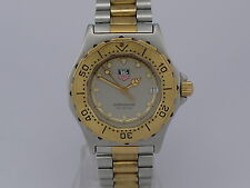 Tag Heuer 3000 Prefessional 200m quartz date GOLD/SS bracelet women diver watch