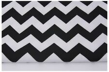 Black Chevron , Zig Zag, QUALITY UPHOLSTERY FABRIC100% Cotton Fabric  240 gr