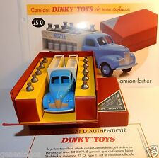 RARE DINKY TOYS ATLAS CAMION LAITIER NESTLE STUDEBAKER 1949 REF 25 O IN BOX