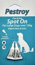 Flea and Tick- Treatment Large dogs over 15kg Pestroy by Bob Martin