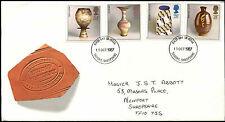 GB FDC 1987 Studio Pottery, Telford FDI #C39646